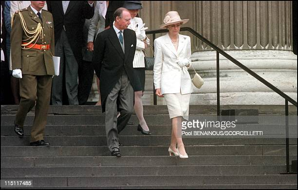 Mass celebrated at St Paul's cathedral in honour of the 100th birthday of Queen Mother in London, United Kingdom on July 11, 2000 - Grand Duke of...