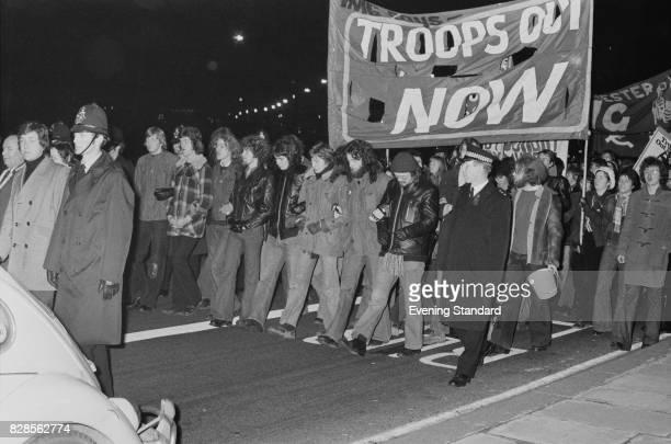 A mass demonstration against Vietnam war UK 30th January 1975