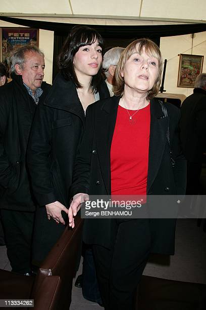 Mass For The 10Th Anniversary Of Yves Mourousi'S Death At The Foire Du Trone In Paris, France On April 07, 2008 - Sophie Mourousi and Marie-Laure...