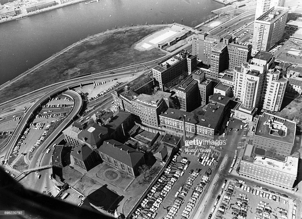 Mass  General Hospital and the Charles Street Jail in Boston, Sept