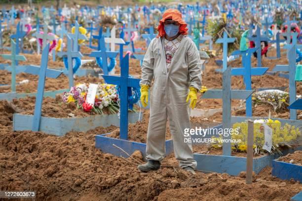 Mass grave had to be dug to bury all suspected coronavirus victims in the Nossa Senhora de Aparacida cemetery of Manaus. At the peak there were 140...