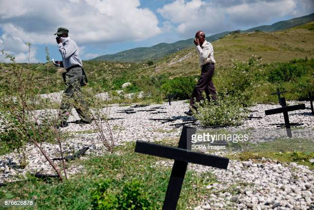 Mass grave where up to 80 000 bodies were laid after the earthquake to avoid spreading of infections. On January 12th 2010, an earthquake hit this...