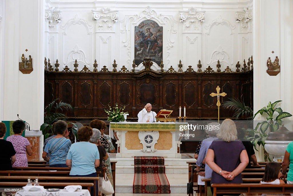 Mass in Chiesa della Madona del Carmine : News Photo