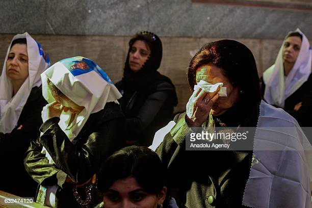 A mass in memory of the victims of the explosion at Saint Peter and Saint Paul Coptic Orthodox Church is held on the 40th day after the attacks at...
