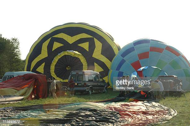 Mass Inflation of 125 Hot Air Balloons during Quik Chek New Jersey Festival of Ballooning Day 3 at NJ Festival of Ballooning in Readington New Jersey...