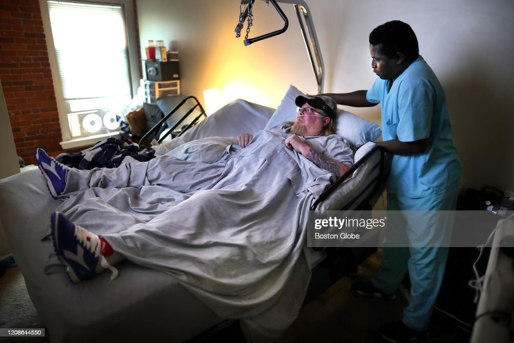 For Patients and Workers Alike, Home Health Visits Fraught With Fears of Coronavirus : News Photo