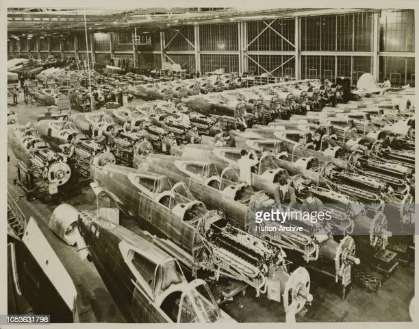 Mass Production Mass output of the unusually fast highly manoeuvrable Curtiss F 40 pursuits for the US Army Air Corps and Curtiss Tomahawk fighters...