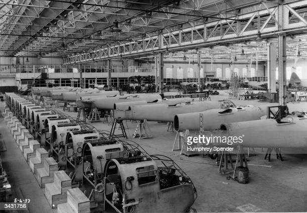 Mass production of Britain's fastest bomber, the Bristol Blenheim. Original Publication: Picture Post - 189 - Bristol - pub. 1939