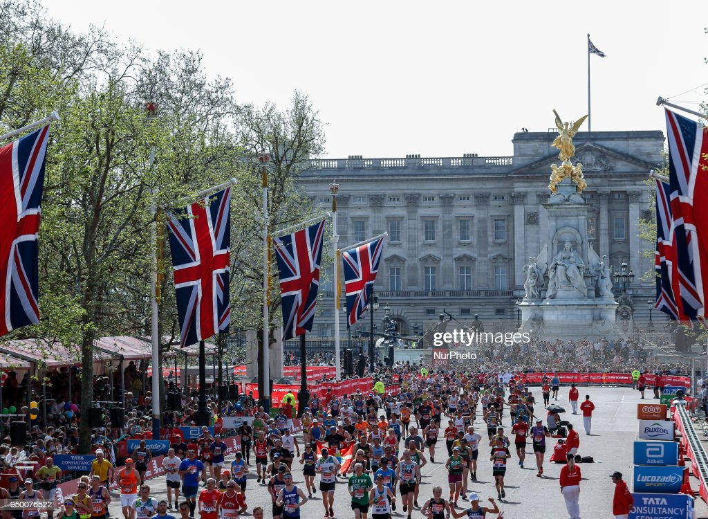 Thousands Of Runners And Spectators Take To the Streets For The London Marathon : News Photo
