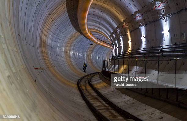 mass rapid transit (mrt) jakarta, indonesia - emerging markets stock photos and pictures