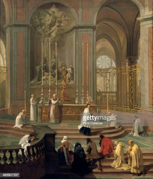 'Mass said by the canon de la Porte, or the main altar of Notre Dame, Paris', 1708-1710. From the Musee du Louvre, Paris.