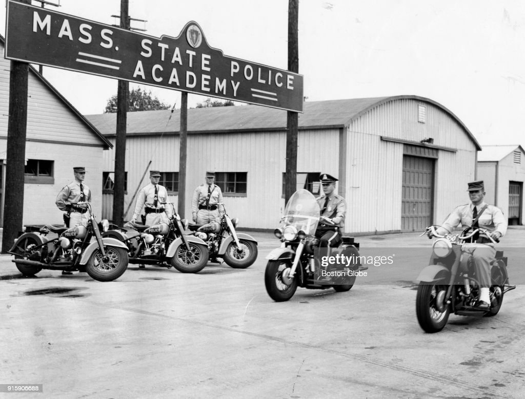 Mass  State Police officers take motorcycle training at the