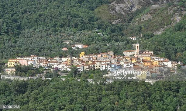 massa, view of antona village - massa stock pictures, royalty-free photos & images