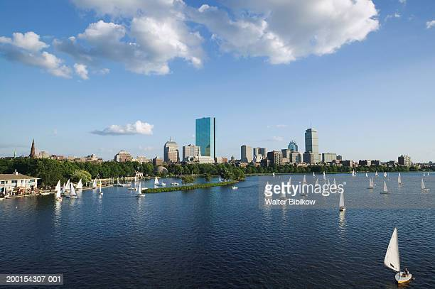 USA, Massachusetts, Boston, Back Bay and Charles River, summer