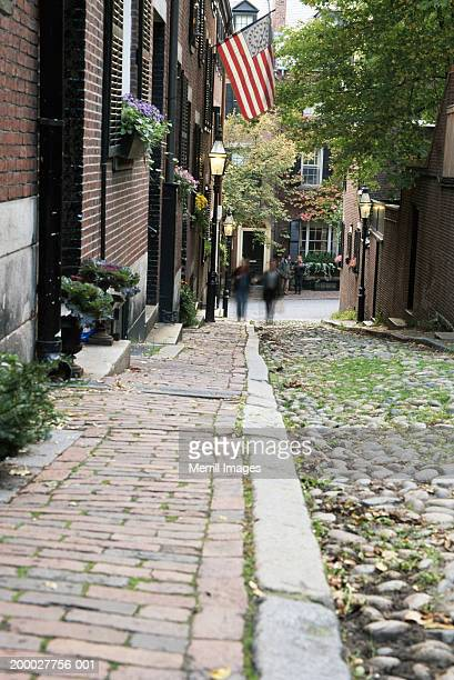 USA, Massachusetts, Boston, Beacon Hill, Acorn Street