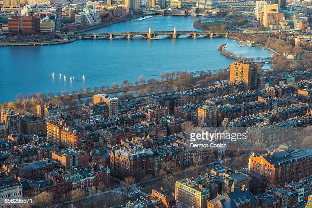 USA, Massachusetts, Boston, Charles River, Cityscape with river