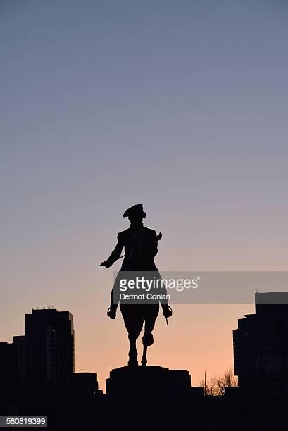 USA, Massachusetts, Boston, George Washington Statue