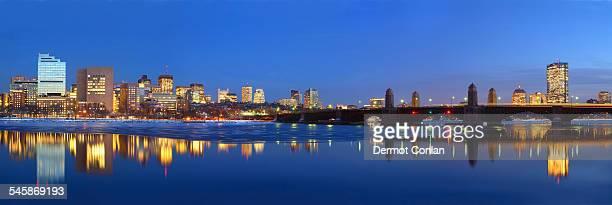 USA, Massachusetts, Boston, Panoramic view of waterfront