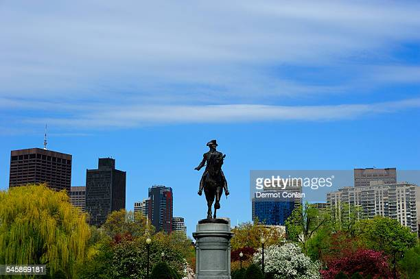 USA, Massachusetts, Boston, Statue of George Washington on Boston Common