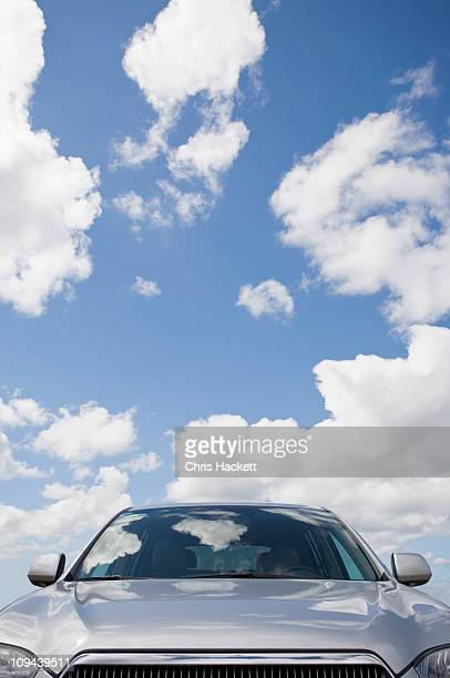 usa, massachusetts, car with sky - windshield stock pictures, royalty-free photos & images