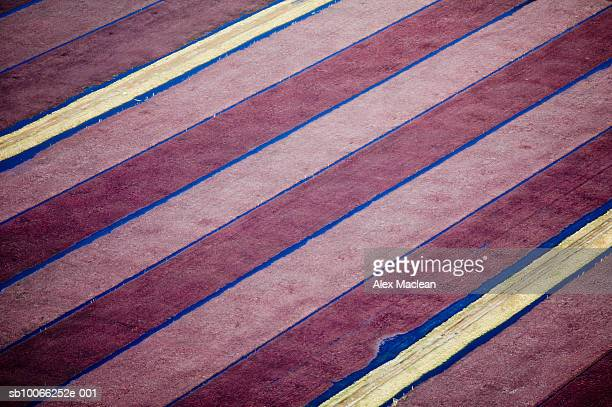 USA, Massachusetts, Carver, cranberry fields and drainage ditches