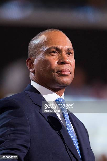 Massachusetts Governor Deval Patrick speaks at the Democratic National Convention in Charlotte, North Carolina.