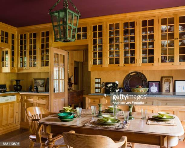 massachusetts home of antiques dealer andrew spindler-roesle - 20th century style stock pictures, royalty-free photos & images
