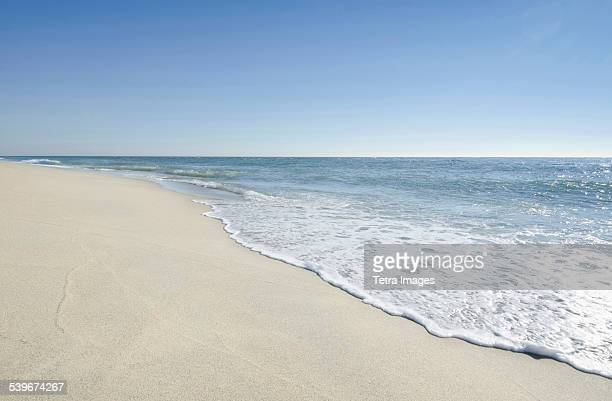 USA, Massachusetts, Nantucket, Beach with blue sky