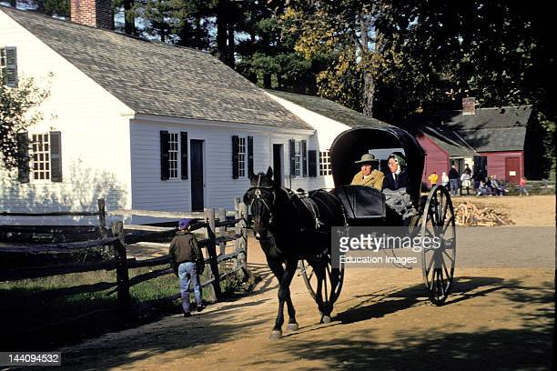 Massachusetts Old Sturbridge Village Horse And Buggy At Bixby House