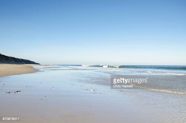 massachusetts, orleans, nausea beach and coastline - hackett stock photos and pictures