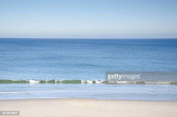 Massachusetts, Orleans, Nauset Beach and sea