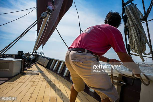 usa, massachusetts - sail boom stock pictures, royalty-free photos & images