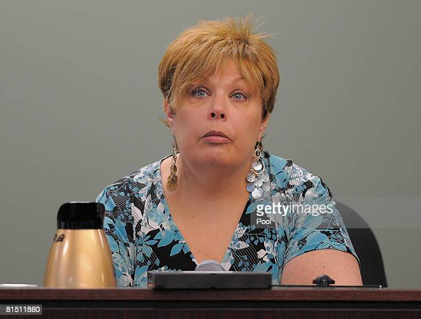 Massachusetts Port Authority record keeper Mari Anne Chandler testifies during the murder trial of the accused Neil Entwistle at Middlesex County...
