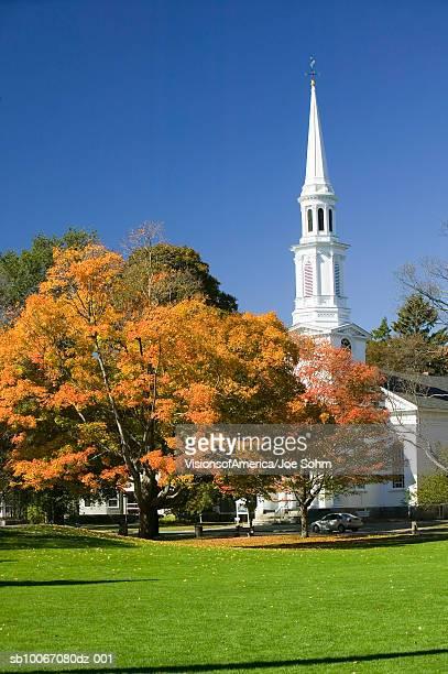 usa, massachusetts, presbyterian church in historical lexington - presbyterianisme stockfoto's en -beelden