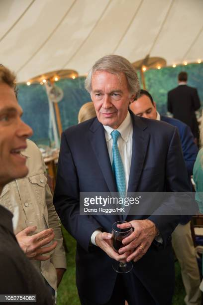 Massachusetts senator Ed Markey attends Cheryl Hines and Robert F Kennedy Jr Wedding at a private home on Saturday August 2 in Hyannis Port...