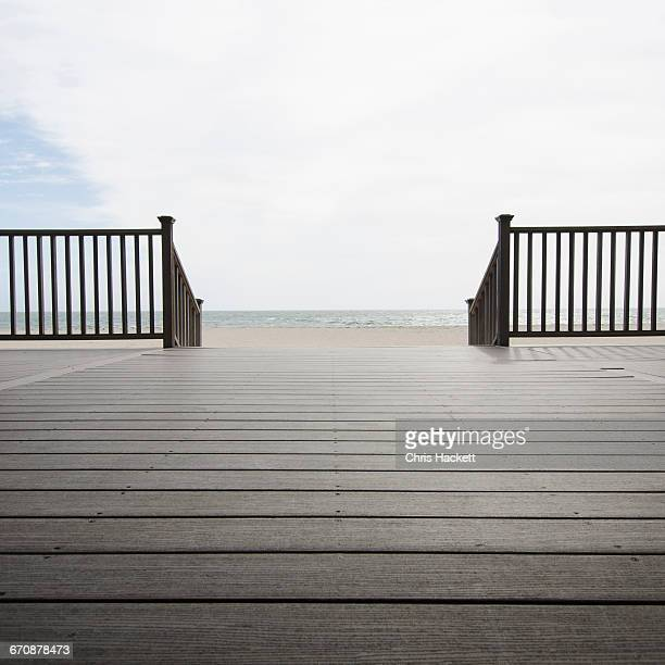 massachusetts, wooden promenade on beach - hackett stock photos and pictures