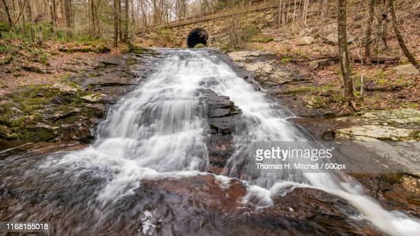 massachusetts-ashfield-chapel brook falls - brook mitchell bildbanksfoton och bilder