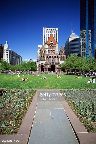 USA, Massachussetts, Boston, Copley Square, Trinity Church