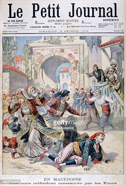 Massacre at a Macedonian orthodox wedding by Turks 1903 An illustration from Le Petit Journal 15th February 1903