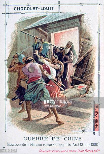 Massacre in the Russian Mission of TongTinAn Boxer Rebellion China 10 June 1900 The Boxer Uprising or Boxer Rebellion was a Chinese rebellion from...