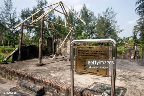 Massacre memorial My Lai Vietnam.