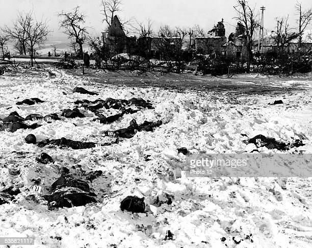Massacre of American soldiers near Malmedy Belgium Second World War war National archives Washington