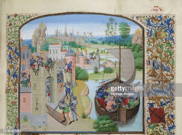 Massacre of Ghent traders at Audenarde 1380 , ca 1470-1475. Found in the Collection of Bibliothèque Nationale de France. Artist Liédet, Loyset .
