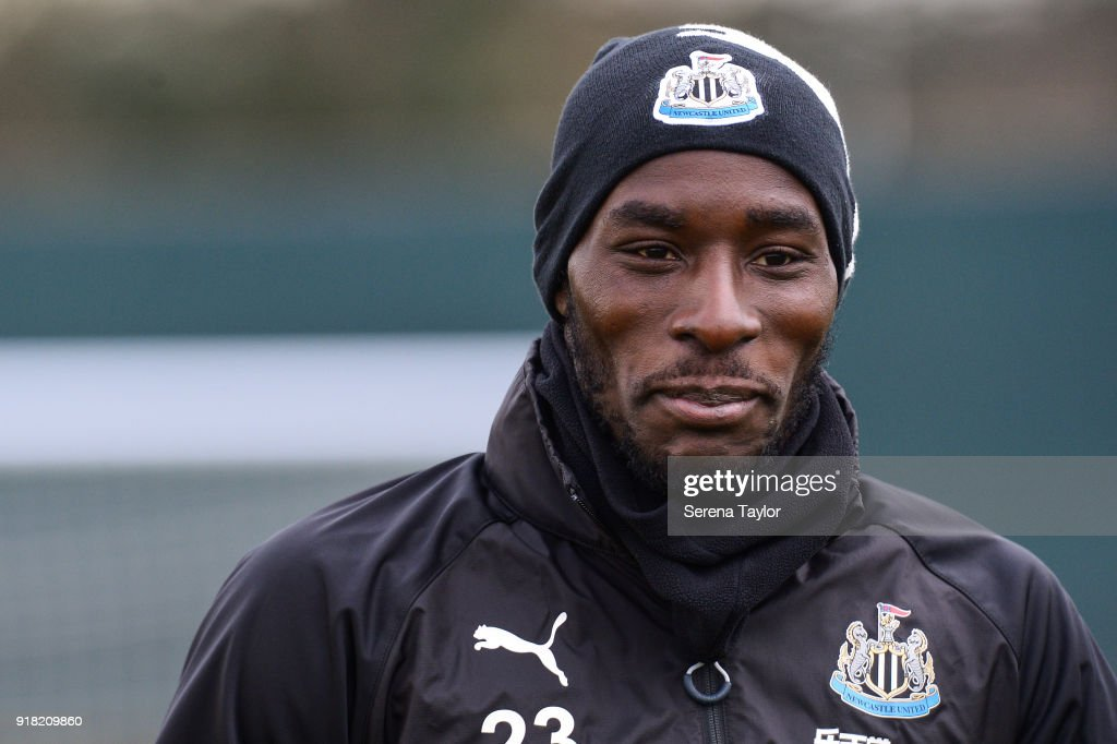 Massadio Haidara during the Newcastle United Training session at The Newcastle United Training Centre on February 14, 2018, in Newcastle upon Tyne, England.