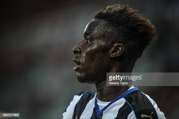 Massadio Haidara of Newcastle during The Capital One Cup second round match between Newcastle United and Northampton Town at StJames Park on August...