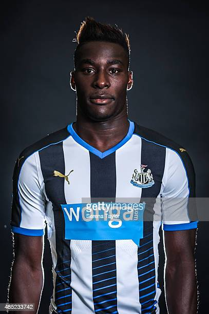 Massadio Haidara poses for his head shot during a Newcastle United Photocall at The Newcastle United Training Centre on July 28 in Newcastle upon...