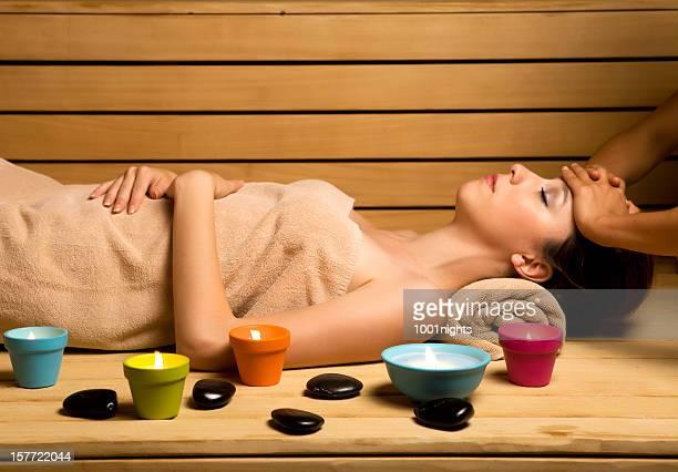 Massage im sauna