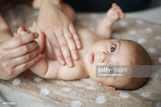 Massage on a 2 months old baby