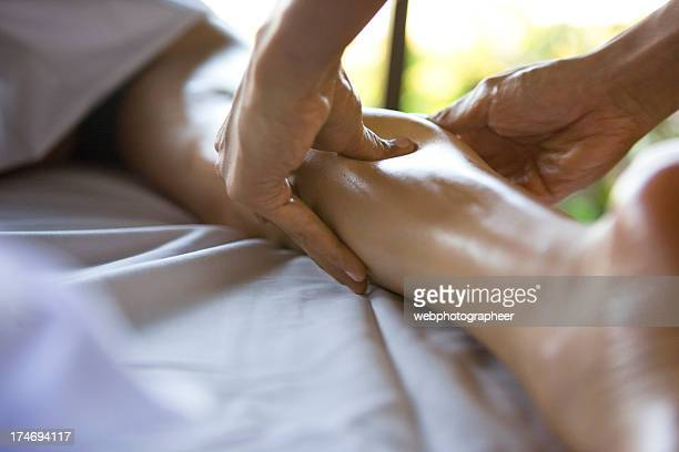 massage - human leg stock pictures, royalty-free photos & images