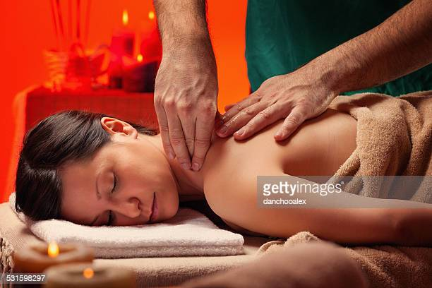 massage process - sensual massage stock photos and pictures